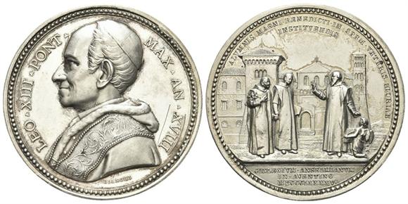 Roma leone xiii vincenzo gioacchino luigi pecci 1878 for Via leone xiii roma