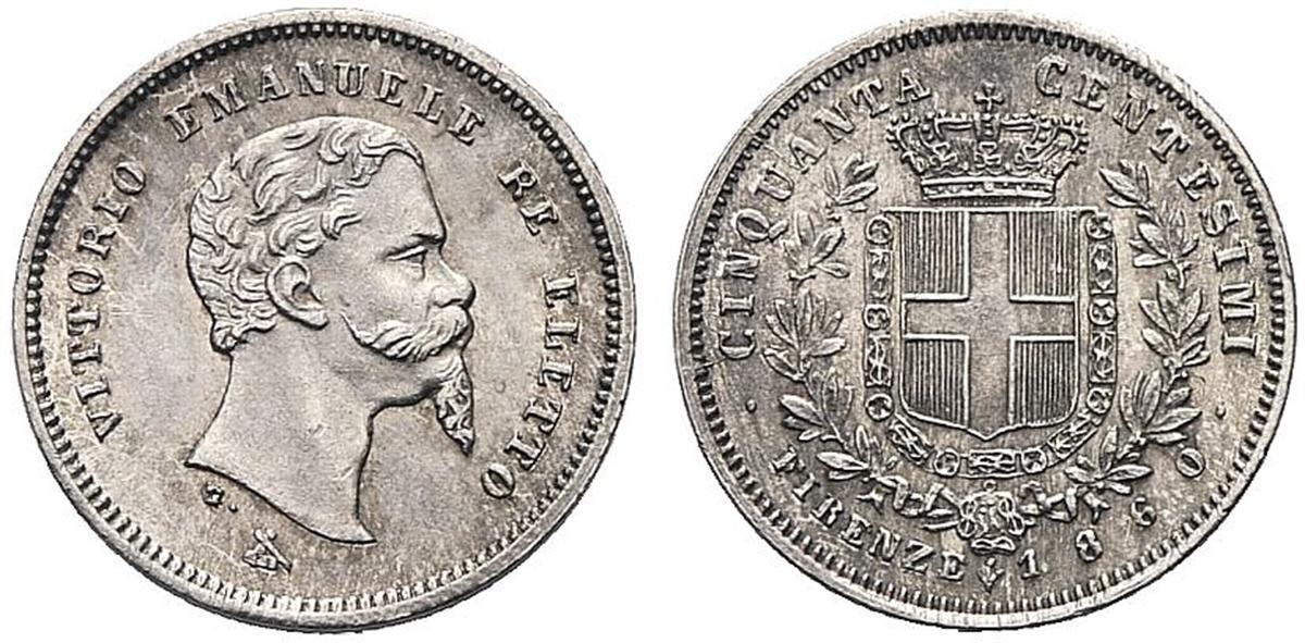 Re ELETTO - Vittorio Emanuele II, 1859-1861. - 50 ...